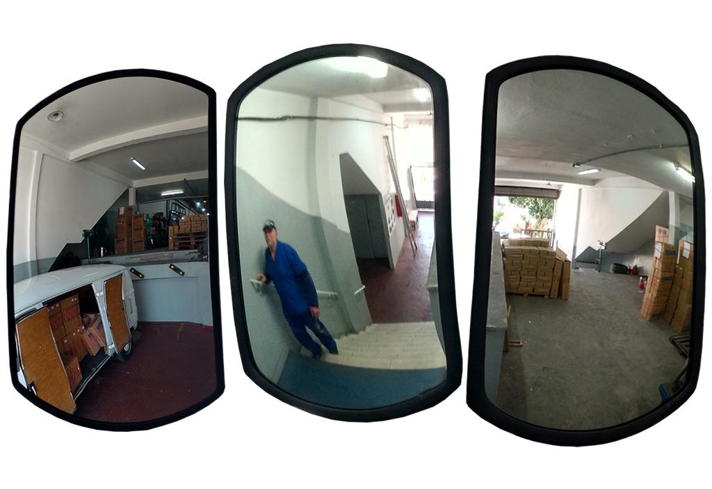 Espelho convexo de seguranca retangular